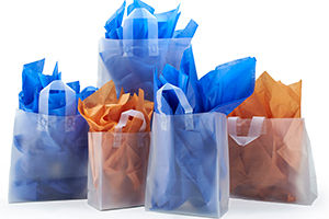 Frosted Shoppers with Soft Flexi Loop Handles