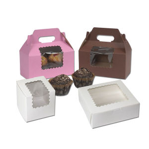 Window Cup Cake Boxes