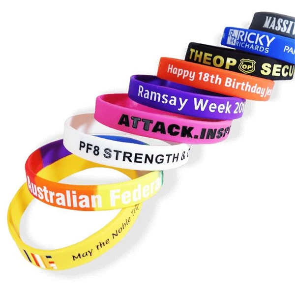 silicone customizable wristbands